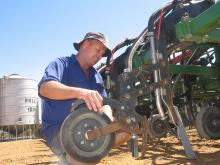 Eradu farmer Peter Barnetson reports the ability to chase moisture with the DBS promoted more healthy and higher yielding crops.