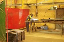 Welding is on in earnest at the new Naval Base factory as production ramps up for the 2017 season.