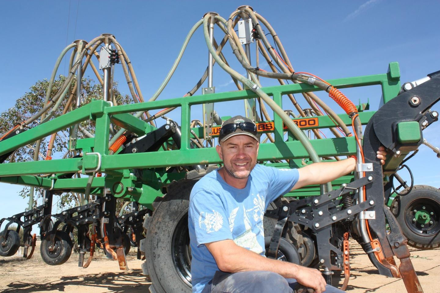 "Bencubbin farmer and Nuffield Scholar Nick Gillett said the BioFurrow™ ""makes fundamental sense to build our soils and enhance water-holding capacity""."