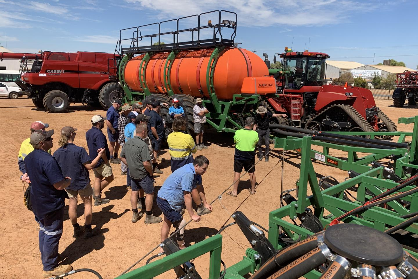 The DBS and Multistream were displayed so farmers could check out new changes to the products. A discussion on parts also proved popular.